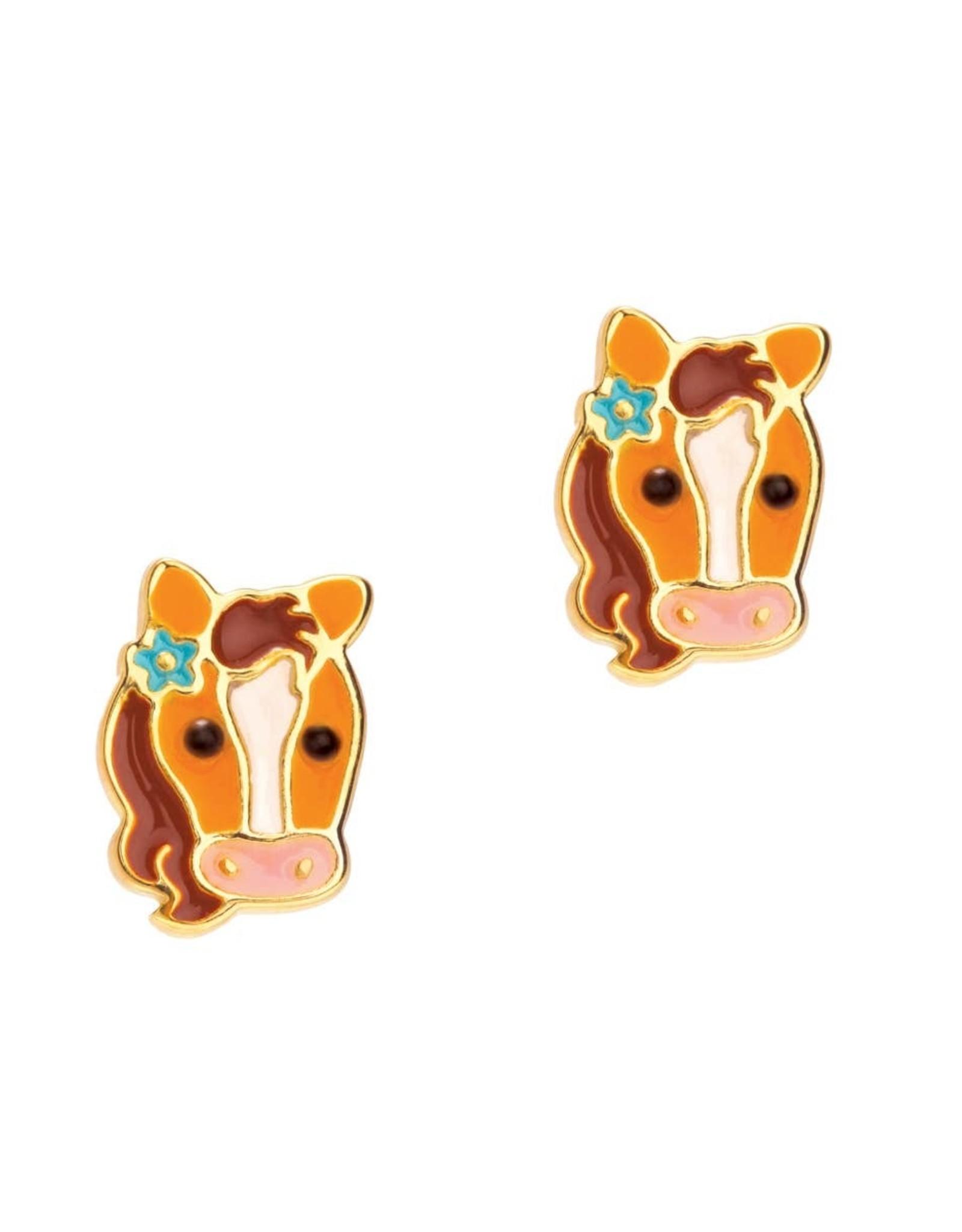 Girl Nation Pretty Pony Stud Earrings