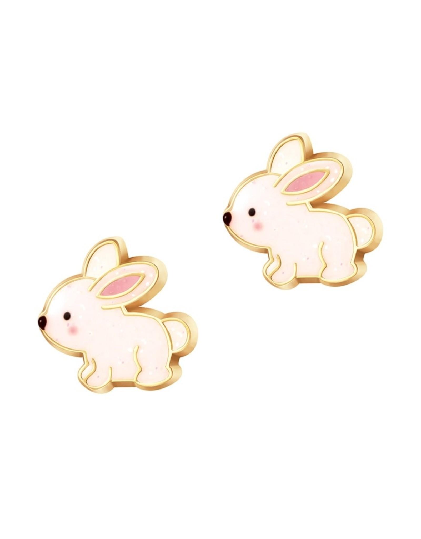 Girl Nation Glitter Rabbit Stud Earrings