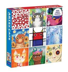 Artsy Cats 500 Piece Puzzle