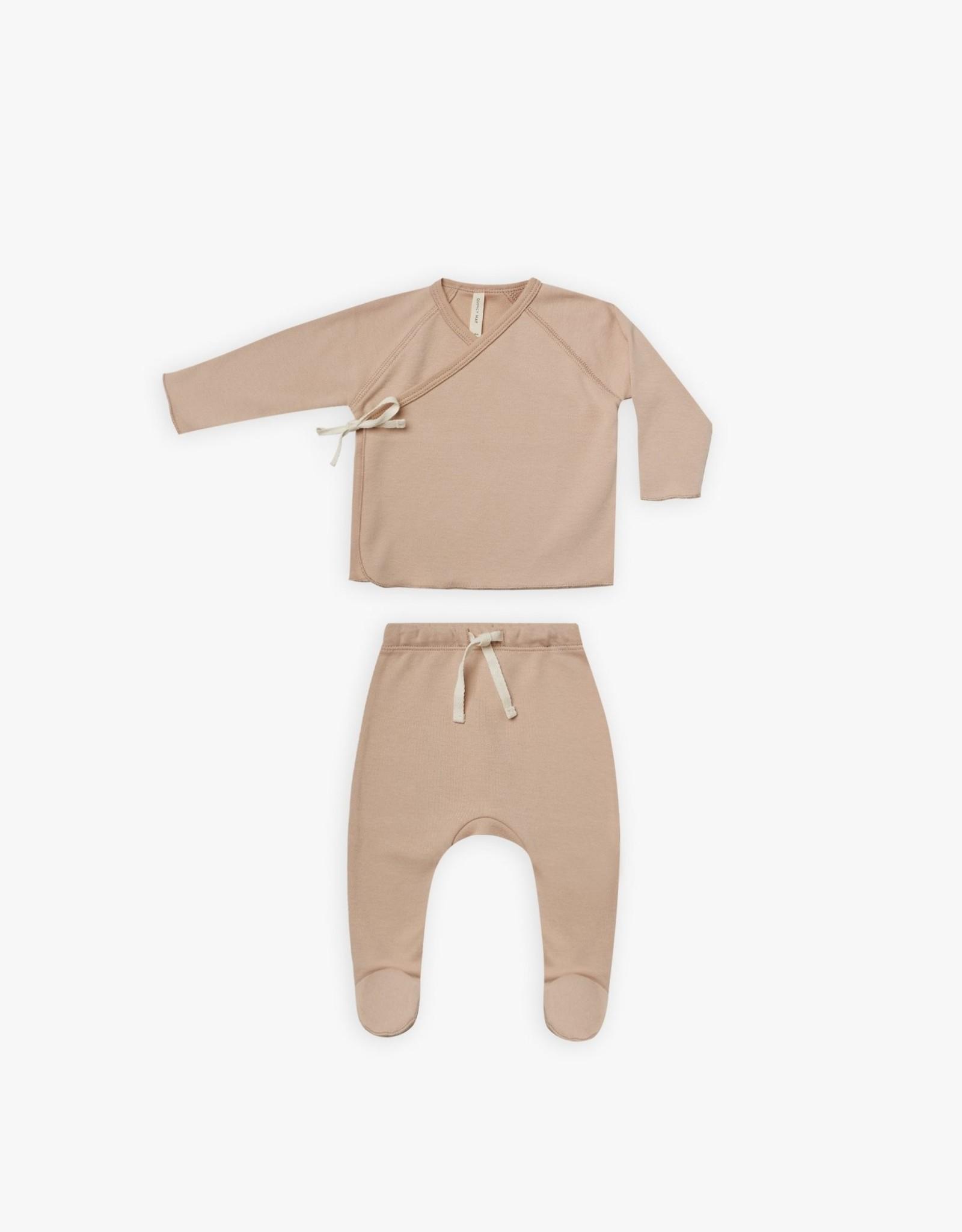 Quincy Mae Wrap Top and Pant Set, Petal