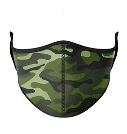 Top Trenz Fashion Face Mask, Small, Green Camo
