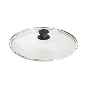 """Lodge LODGE Glass Lid 12"""" with Silicon Knob"""