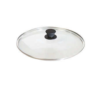 """LODGE Glass Lid with Silicon Knob 10.25"""""""