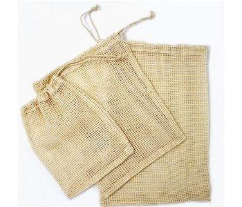 Cotton Mesh Produce Bag-Set of 3 SM/MED/LG