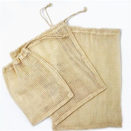 Danesco Cotton Mesh Produce Bag-Set of 3 SM/MED/LG