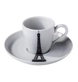 Pillivuyt USA PILLIVUYT VILLE DE PARIS Espresso cup and saucer