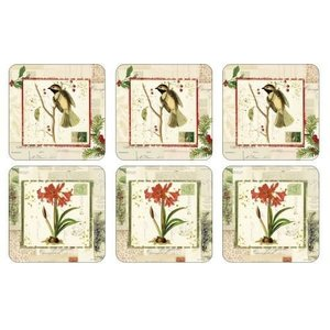 Pimpernel Coasters Holiday Nostalgia Set/6