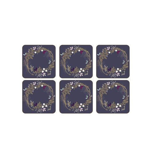 Pimpernel COASTERS GARLAND/ SET OF 6