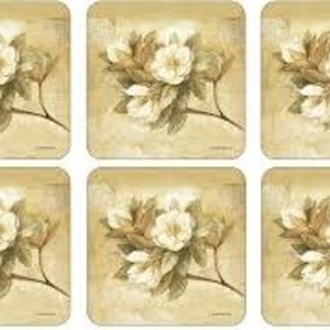 Pimpernel Coasters Sugar Magnolia/ Set of 6