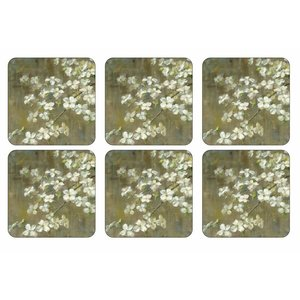 Pimpernel Coasters Dogwood in spring Set/6