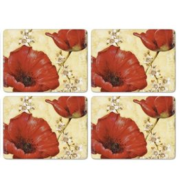 Pimpernel Placemats Poppy de Villeneuve Set/4