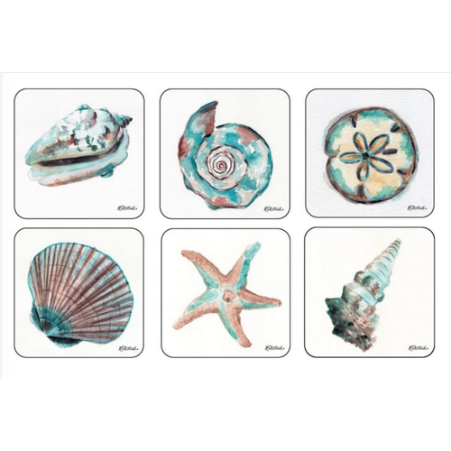 Pimpernel Coasters Coastal Shore/ Set of 6