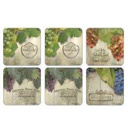 Royal Selangor Portmeirion Coasters Tuscan Vineyard Set/6