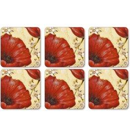 Royal Selangor Portmeirion Coasters POPPY DE VILLENEUVE Set/6