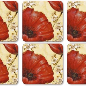 Pimpernel Coasters POPPY DE VILLENEUVE Set/6