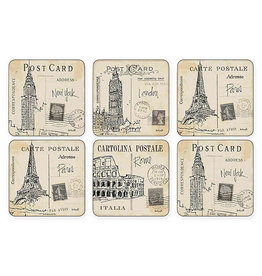 Royal Selangor Portmeirion Coasters Postcard Sketches Set/6