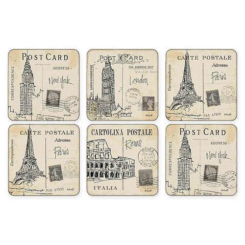 Pimpernel Coasters Postcard Sketches Set/6