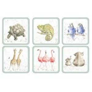 Pimpernel Coasters Zoological/ Set of 6