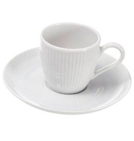 Pillivuyt USA PILLIVUYT PLISSE Espresso Cup & Saucer