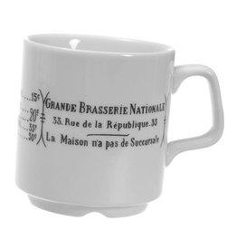 PILLIVUYT PILLIVUYT BRASSERIE Stackable Mug 9 oz