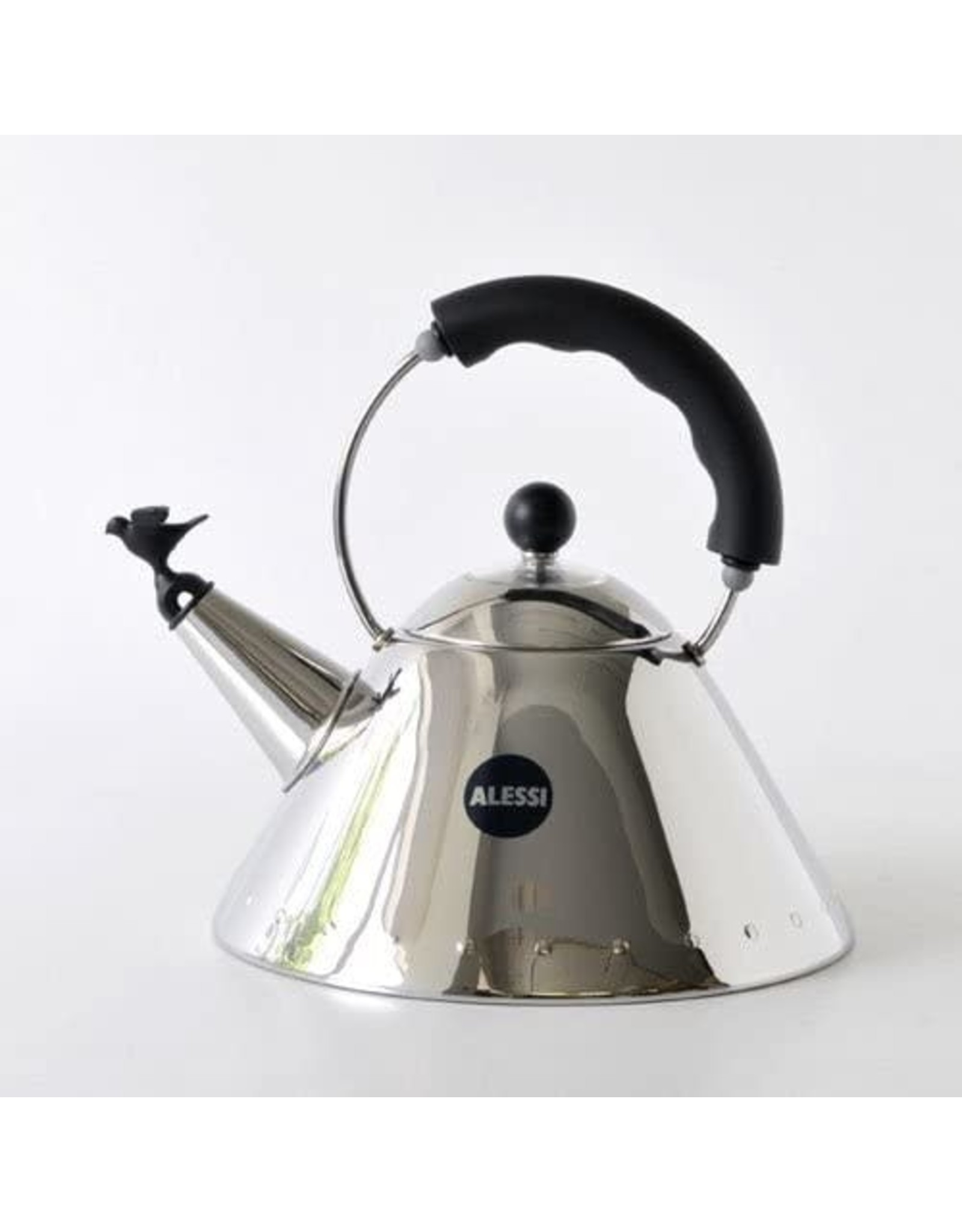 Alessi ALESSI Kettle Small Bird Shaped Whistle BLACK HANDLE