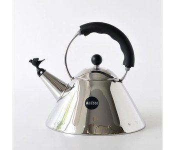 ALESSI Kettle Small Bird Shaped Whistle BLACK HANDLE