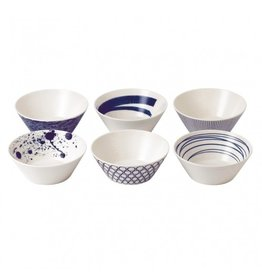 """Royal Doulton ROYAL DOULTON Pacific Mixed Patterns Bowl 6.2"""" Set/6"""