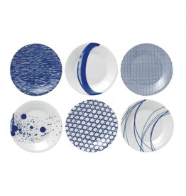 "Royal Doulton ROYAL DOULTON Pacfici Mixed Patterns Tapas Plate 6.3"" Set/6"