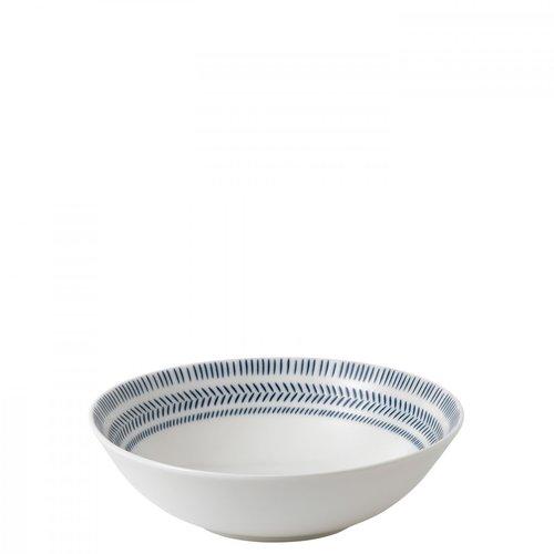 Royal Doulton ELLEN DEGENERES Bowl Cereal Cobalt Blue Chevron
