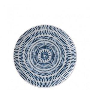 Royal Doulton ELLEN DEGENERES Plate Salad Cobalt Blue Chevron