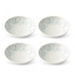"""Royal Doulton ELLEN DEGENERES Polar Blue Bowl 5.5"""" set/4"""