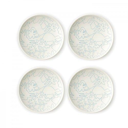 """Royal Doulton ELLEN DEGENERES Polar Blue Plate 6"""" set/4"""