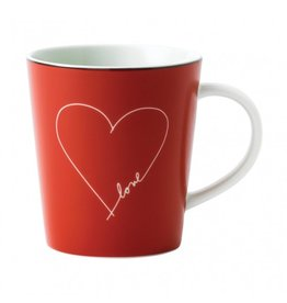 Royal Doulton ELLEN DEGENERES Mug Red White Heart