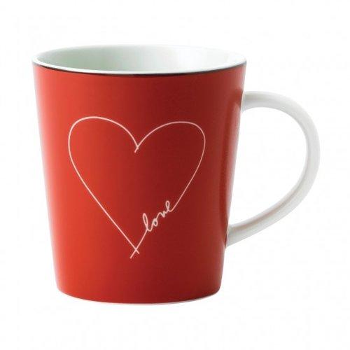 Royal Doulton ELLEN DEGENERES Mug Red White Heart