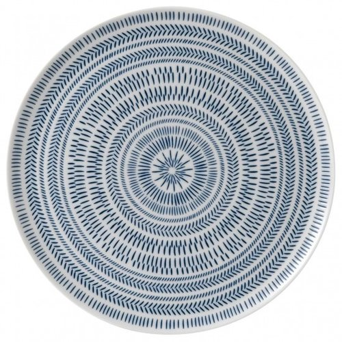 Royal Doulton ELLEN DEGENERES Serving Platter Cobalt Blue Chevron
