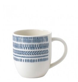 Royal Doulton ELLEN DEGENERES Mug Cobalt Blue Chevron