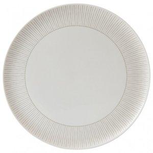 Royal Doulton ELLEN DEGENERES Serving Platter Taupe Stripe