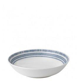 Royal Doulton ELLEN DEGENERES Pasta Bowl Cobalt Blue Chevron