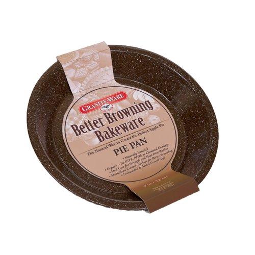 "Graniteware BETTER BROWNING Pie Pan 9"""
