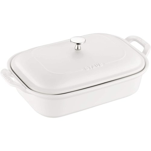 Staub STAUB RECTANGLE DISH WITH LID WHITE