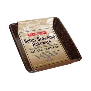 "Graniteware BETTER BROWNING Square Cake Pan Square 8x8"""