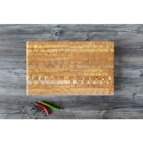 LARCH WOOD LARCH WOOD CUTTING BOARD - SMALL - #1