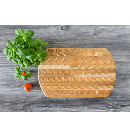 LARCH WOOD LARCH WOOD CUTTING BOARD - Curved End Board - # 1