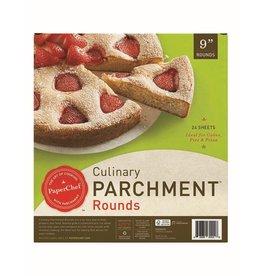 """David Shaw Tableware PaperChef Parchment Pre-Cut 9"""" Rounds"""