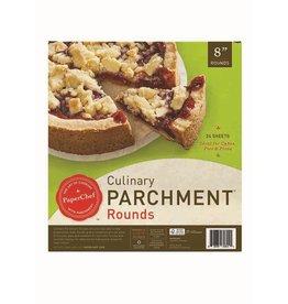 """David Shaw Tableware PaperChef Parchment Pre-Cut 8"""" Rounds"""