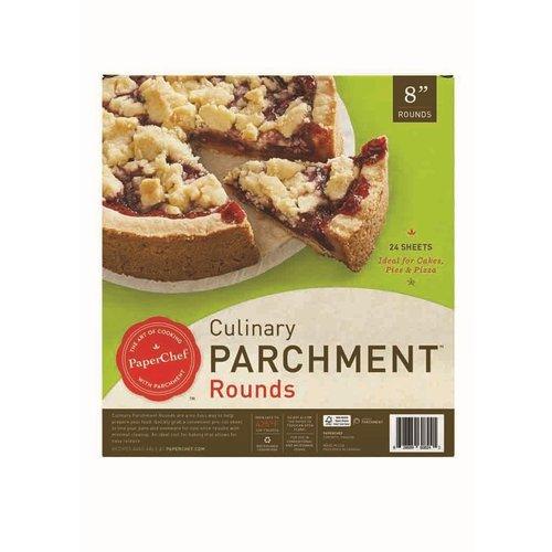 """PaperChef PaperChef Parchment Pre-Cut 8"""" Rounds"""