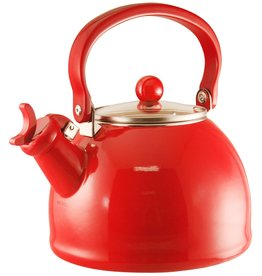 David Shaw Tableware Whistling Kettle Red 2.2qt