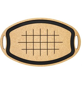 Epicurean CARVING BOARD OVAL 23X15 natural with slate