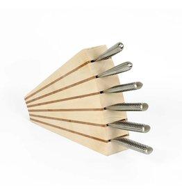 David Shaw Tableware Knife Block 6 Slots Lindon/Beech