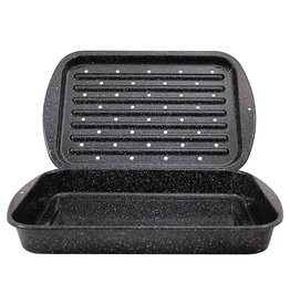 Graniteware GraniteWare Roaster/Broiler Pan 2 Pieces
